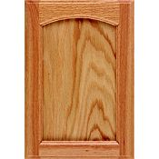 Oak Recessed Panel Arch Cabinet Door