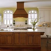 Manteo Maple Toasted Almond Glaze and Manteo Cherry Coffee Glaze Kitchen Cabinets