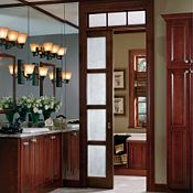 Plaza Cherry Cinnamon Bathroom Cabinets