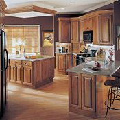 Plaza Cherry Brierwood Kitchen Cabinets
