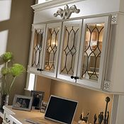 Plaza Maple Amaretto Crème Glaze Home Office Cabinets