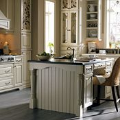 Plaza Maple Amaretto Crème Glaze Kitchen Cabinets