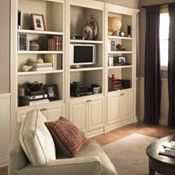 Plaza Maple Pearl Paint Home Entertainment Cabinets