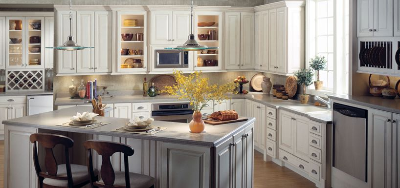 Toasted Almond Glaze Kitchen Cabinets