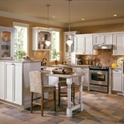 Raleigh Maple Amaretto Crème Glaze Kitchen Cabinets