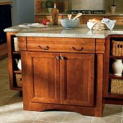 Raleigh Maple Coffee Glaze & Brierwood Kitchen Cabinets
