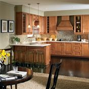 Saxony Maple Coffee Glaze Kitchen Cabinets