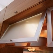 Wall Top-Hinge Door with Alumina Frame