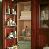 Linen Closet with Door Rack