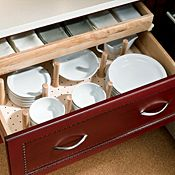 2-Drawer Base with Sliding Shelf and Pegged Dish Organizer