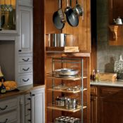 Utility Storage with Pantry Pullout and Pots & Pans Rack