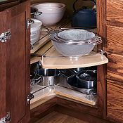 Super Lazy Susan with Chrome Rail