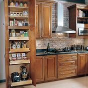 Utility Cabinet with Sliding Shelves