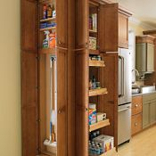 Utility Cabinet with Organizer Cabinet