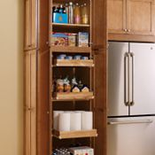 Utility with Sliding Shelves