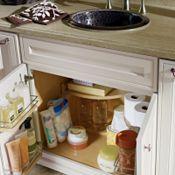 Armoire de plancher pour meuble-lavabo SuperCabinetTM avec unité basculante