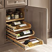 Base with Wine Bottle Pullout