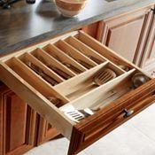 Cutlery Insert Wood Organizer