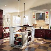 Villa Cherry Cranberry & Villa Maple Pearl Kitchen Cabinets