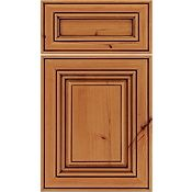 Rustic Alder Raised Panel Square with 5-Piece Drawer Front