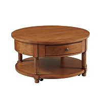 Attic Heirlooms Round Lift Top Cocktail Table