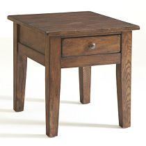 Attic Heirlooms End Table, Rustic Oak