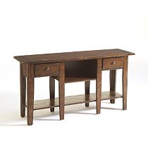 Attic Heirlooms Sofa Table, Natural Oak Stain