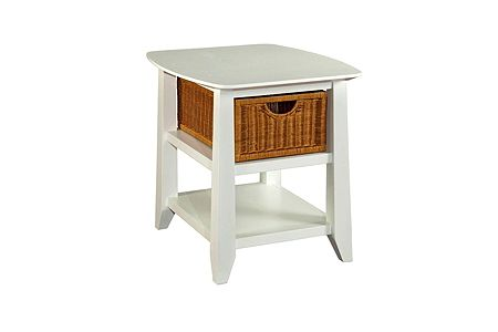 Owen Landing End Table (White Finish)