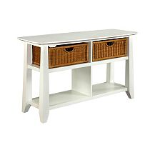 Owen Landing Sofa Table (White Finish)