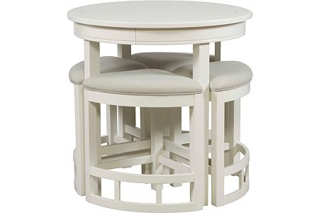 Mirren Harbor Round Counter Table With Stools