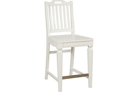 Mirren Harbor Slat-Back Counter Stool