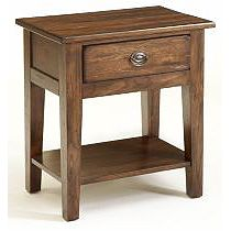 Attic Heirlooms Nightstand, Natural Oak Stain