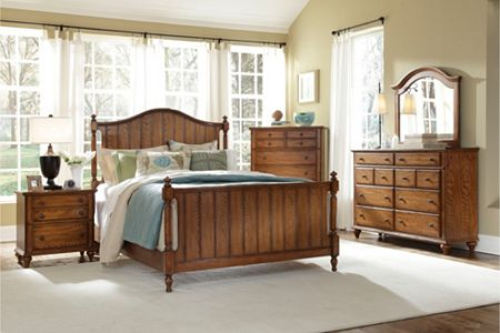 Hayden Place -  Oak,  Panel Bed