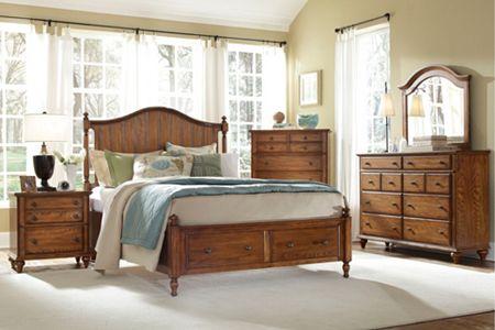 Hayden Place -  Oak,  Panel Storage Bed