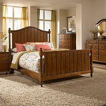 Hayden Place - Light Cherry, Panel Bed