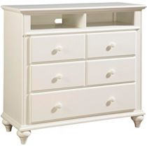 Hayden Place - White,      Media Chest