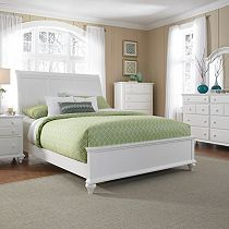 Hayden Place - White, Sleigh Bed