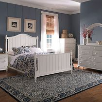 Hayden Place - White, Panel Bed