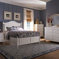 Hayden Place - White, Panel Storage Bed