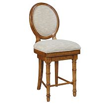 Samana Cove Upholstered-Seat Swivel Counter Stool