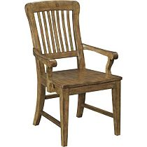 New Vintage™ School House Wood Seat Arm Chair (Vintage Brown)