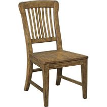 New Vintage™ School House Wood Seat Side Chair (Vintage Brown)