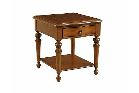 Creswell Drawer End Table Cherry From The Creswell