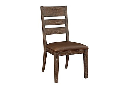 Attic Retreat Performance Leather™ Seat Ladderback Side Chair