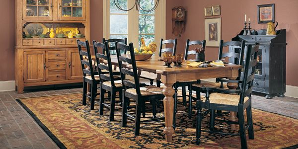 the chairs however would be pine to match the table i also found a - Country Dining Room Sets