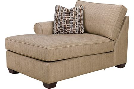Ethan left arm facing chaise from the ethan collection by for Broyhill chaise lounge