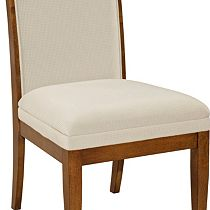 Suede Upholstered-Seat-and-Back Side Chair