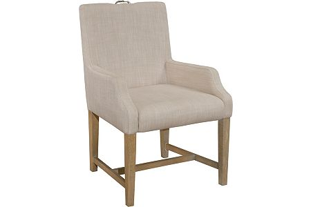 Hampton Upholstered-Seat-and-Back Arm Chair