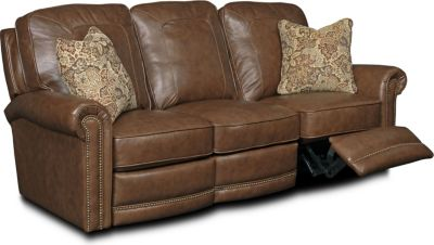 Jasmine Leather or Performance Leather™ Reclining Sofa