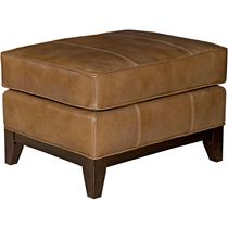 Perspectives Leather Ottoman